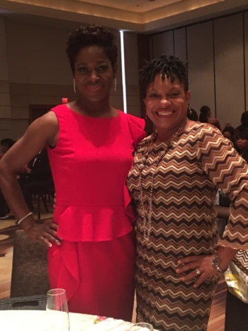 HRKS's Sheree Knowles and Tamiko DRummond at Who's Who reception