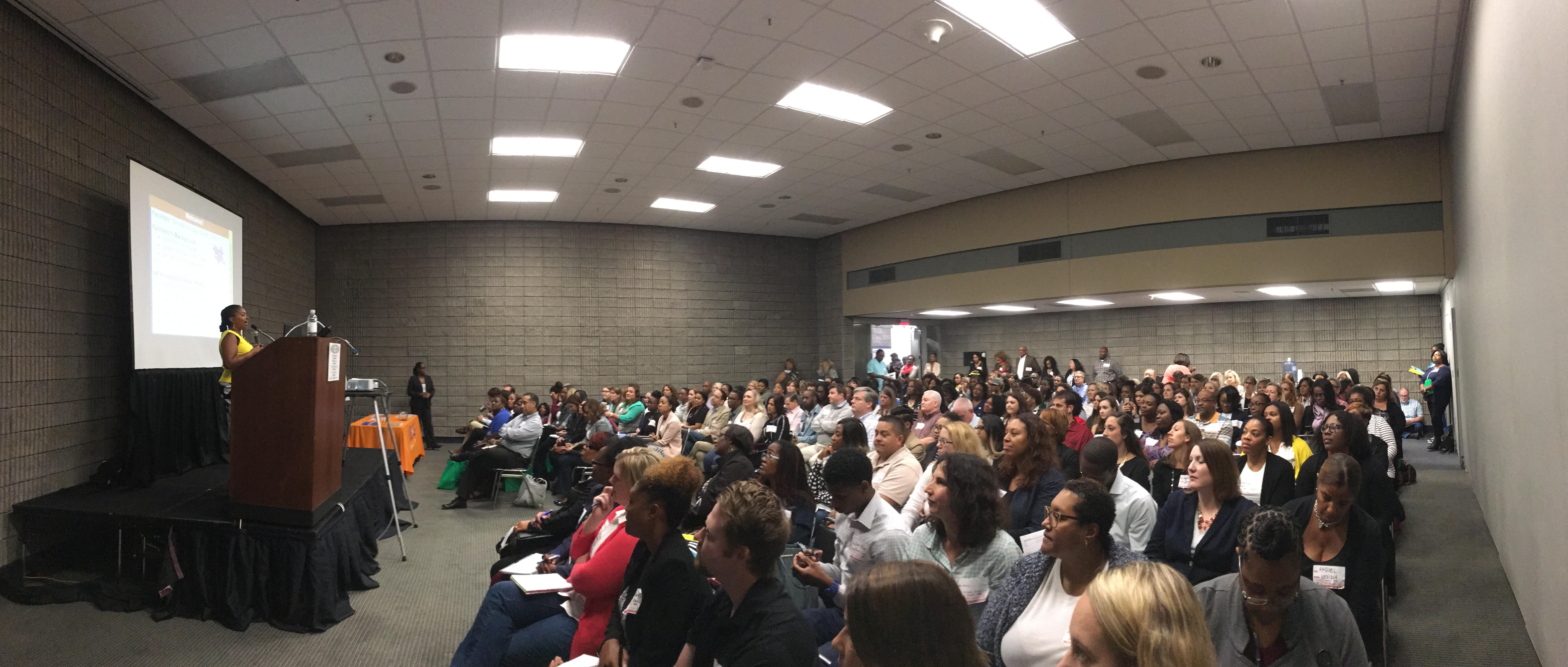 Packed room HR star atl Sheree Knowles speaker